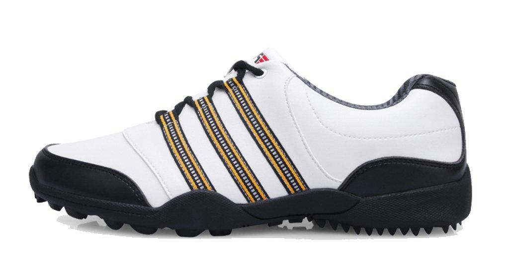 (ロモンス) Romons メンズ イングランド風 Golf ゴルフシューズ BOAダイヤル式 防水 滑り止め スパイク B01HICSKT0 24.5 cm ホワイト/ブラック