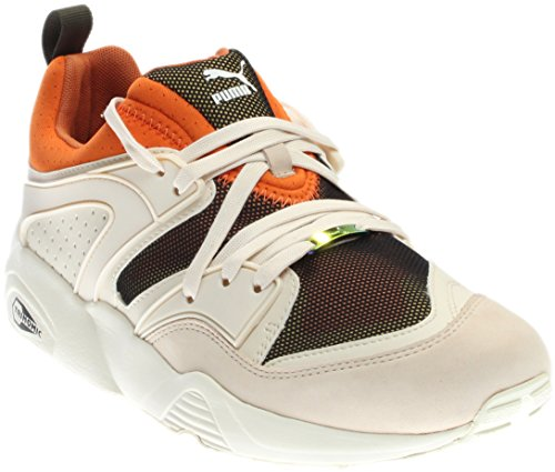 Puma Flammande Ära Camping Mens Beige Läder / Mesh Athletic Löparskor Beige / Orange