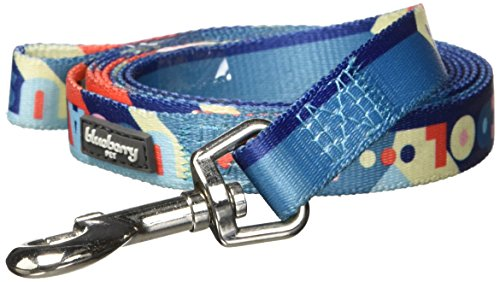 """Blueberry Pet Durable Naughty Boy Artistic Sapphire Dog Leash 6 ft x 5/8"""", Small, Leashes for Dogs"""