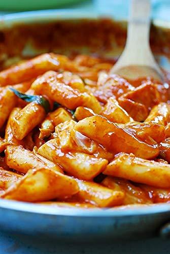 ROM AMERICA Korean Tteokbokki Rice Cake Stick, 23oz/pk (Pack of 1), 떡볶이떡
