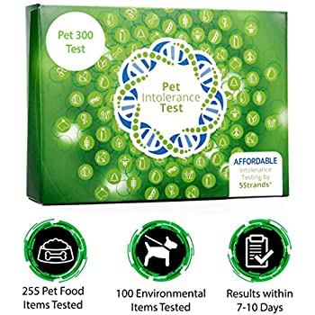 Image of 5Strands | Affordable Pet 300 Test | 255 Food Ingredients & 100 Environmental Items Tested Cat & Dog | Allergy Sensitivity & Intolerance at Home Collection Test Kit | Hair Analysis Pet Supplies