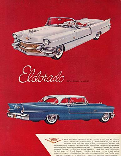 These magnificent automobiles Cadillac Eldorado Convertible & Coupe ad 1956 H
