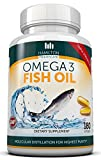 TRIPLE STRENGTH OMEGA 3 FISH OIL, 180 Softgels - 800mg EPA 600mg DHA Per Serving - Molecular Distillation for Highest Purity - Manufactured in the USA Exclusively for Hamilton Healthcare