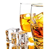 """DomeStar 50 Pcs 1"""" Clear Acrylic Ice Cubes, Square Shape, for Photography Props or Home Decorate"""