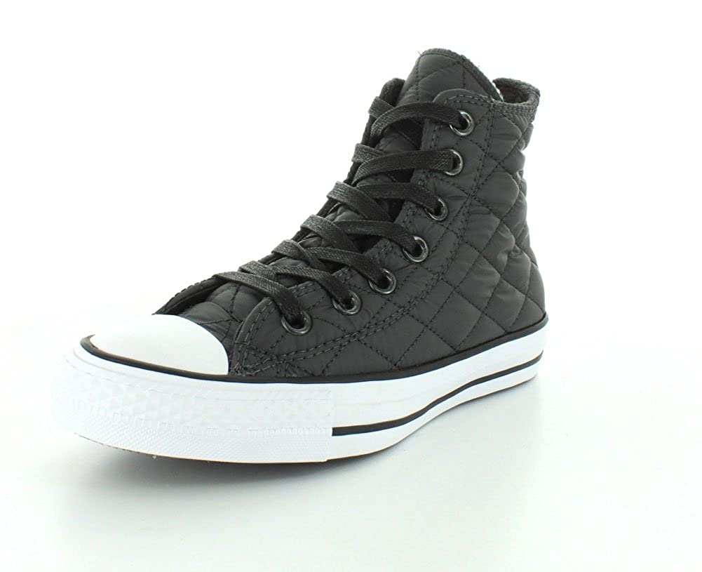 313db161328e Converse Mens Chuck Taylor All Star Quilted Nylon Hi Storm Wind Black White  Sneaker - 4 Men - 6 Women  Amazon.ca  Shoes   Handbags