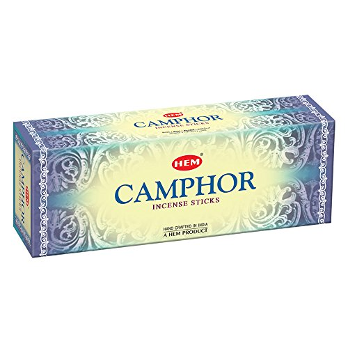 Camphor Incense - Camphor - 20 Stick Hex Tube - HEM Incense