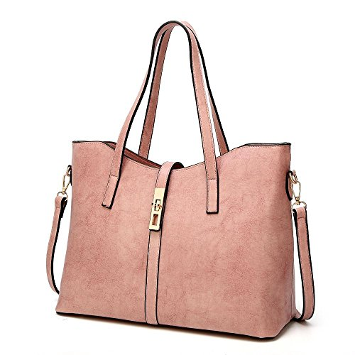 Penao Moda solo bolso messenger, bolso simple de cien vueltas de las señoras, tamaño 35cmx15cmx27cm Pink