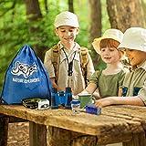 Joyjoz Adventure Kit, Outdoor Explorer Kit for Kids with Compass, Binoculars, Flashlight, Magnifying Glass, Backpack, Toys for Boys Girls Camping Hiking