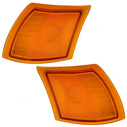Driver and Passenger Signal Side Marker Lights Lamps Replacement for Saturn 22700024 22700025