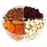 nut and dried fruit - Premium Gourmet Nuts & Dried Fruits Gift Basket, Assorted Tray Fresh and Roasted.