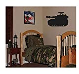 best army wall decals  PVC Wall Stickers Big Tank Boys Army Military Bedroom Wall Decor Decal 94X46CM