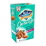 Blue Diamond Gluten Free Almonds, Oven Roasted with Sea Salt, 100 Calorie On-The-Go Bags, 7 Count Box (Pack of 6)