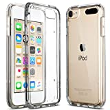 Image of ULAK Soft TPU Bumper PC Back Hybrid Case for iPod Touch 6/iPod Touch 5 - Retail Packaging - Clear Slim