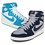 Nike Mens AJ1 KO High OG Rival Pack 'UNC Vs. Georgetown' University Blue/Obsidian-Grey Fabric Basketball Shoes Size 10