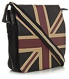 Big Handbag Shop kleine Unisex Union Jack GB UK Souvenir Gift Reise Kunstleder Umhängetasche