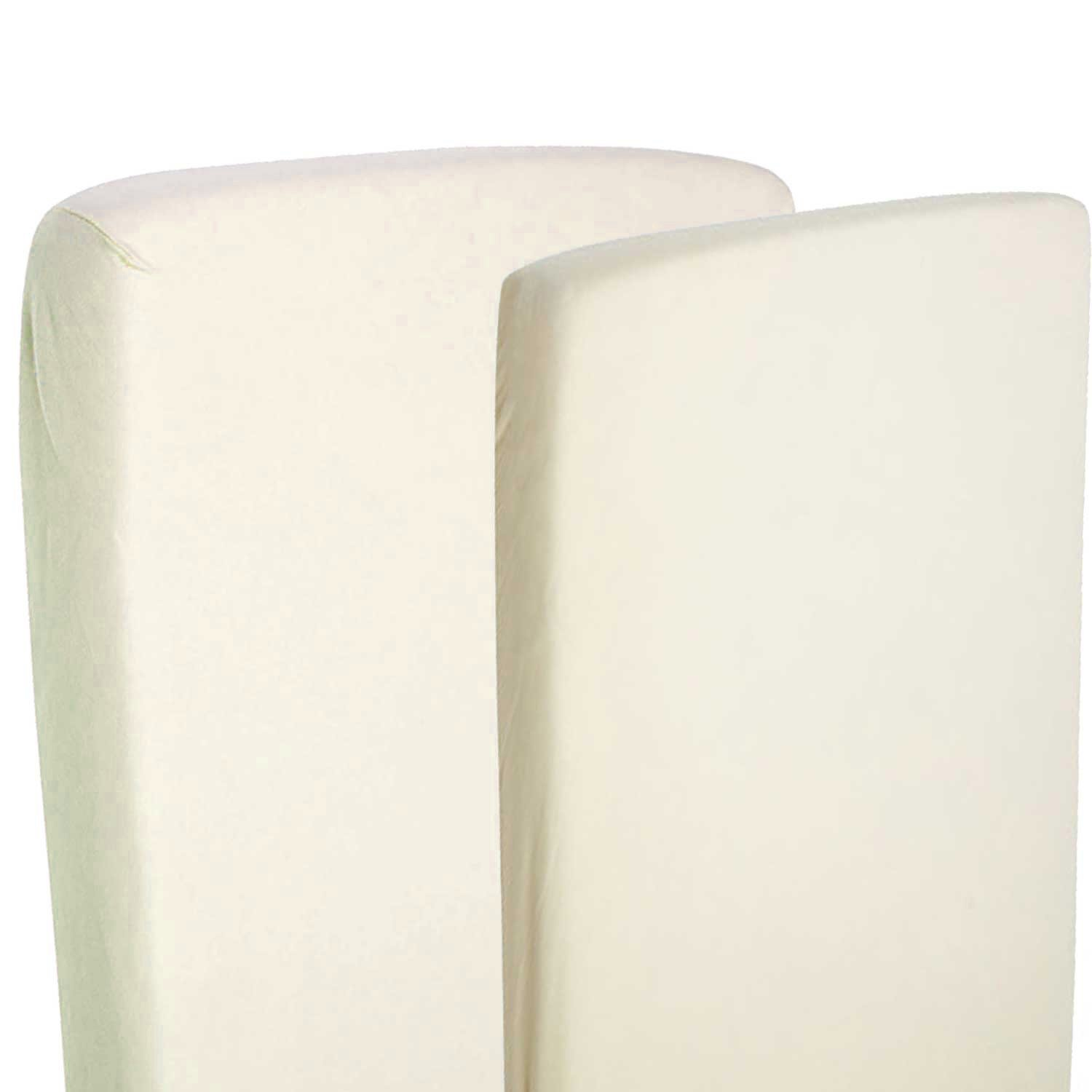2x Fitted Sheets Compatible With Snuzpod Bedside Crib 100% Cotton - Cream-By For-Your-Little-One