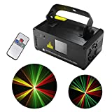 Mini IR Remote Red Green Yellow Mixing Effect Color DMX 512 Stage Lighting DJ Dance Party Home Show Projector Lights ADM-RGY200