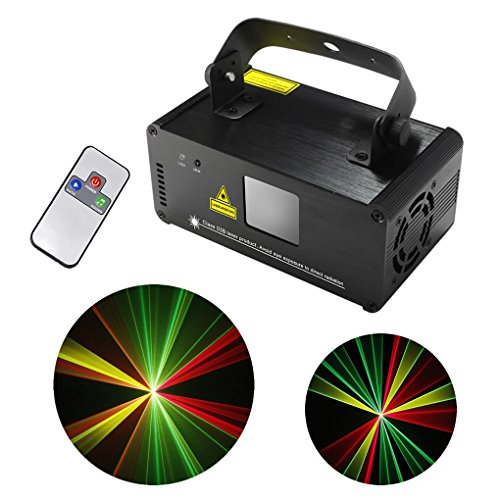 Mini IR Remote Red Green Yellow Mixing Effect Color DMX 512 Stage Lighting DJ Dance Party Home Show Projector Lights ADM-RGY200 by JE