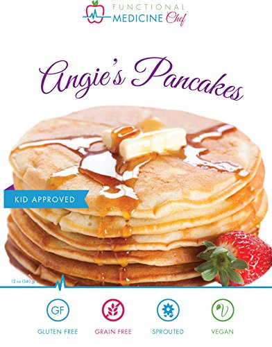 Angie's Pancake and Waffle Mix - Gluten free, Grain free, Dairy free, Organic, Sprouted, Vegan, Kosher by Functional Medicine Chef (12 oz)