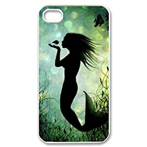 TOSOUL Customized Print Mermaid Pattern Back Case for iPhone 4/4S