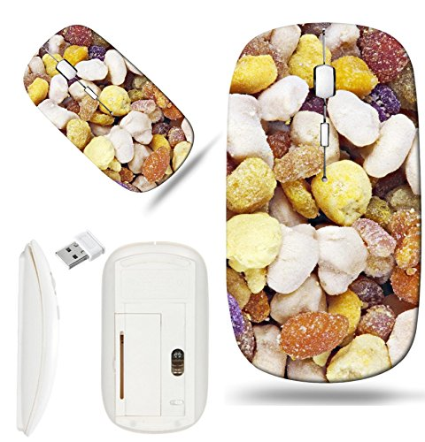 Luxlady Wireless Mouse White Base Travel 2.4G Wireless Mice with USB Receiver, 1000 DPI for notebook, pc, laptop, macdesign IMAGE ID: 22692408 Colorful bee pollen granules extreme (Pollen Power Granules)