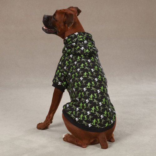 Zack & Zoey Polyester/Cotton Special Ops Dog Hoodie, Teacup, Black