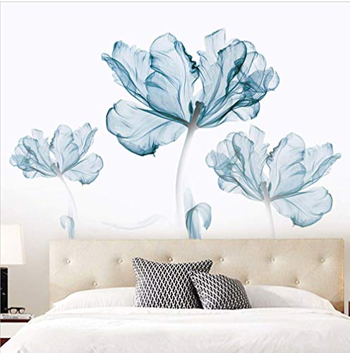 DERUN TRADING Wall Stickers & Murals Home Décor Home Décor Accents for Living Room Flower Wall Decals Home Improvement Paint Wall Treatments Wall Decals Murals Decor Vinyl Removable Mural Paper … by DERUN TRADING (Image #4)