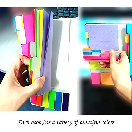 Sticky Notes - Self-Stick Notes Divider Notes 60 Ruled Lined Notes (4x6),48 Dotted Notes (3x4),48 Blank Notes(4x3),48 Orange and Pink,25 per PET Color - 402 pcs Divider Sticky Notes Photo #6
