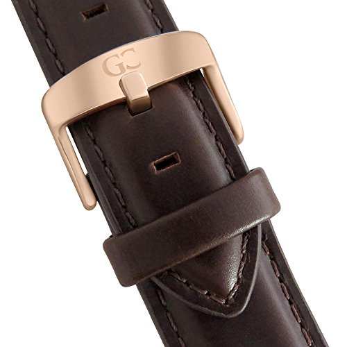 Gelfand & Co. Quick Release Interchangeable Watch Strap Dark Brown Genuine Leather 18mm Rose Gold by GC Gelfand & Co. (Image #1)