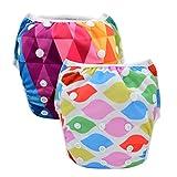 Babygoal Reusable Girl Swim Diapers, Baby Shower Gift & Swim Lesson for 0-2 year Baby Girl