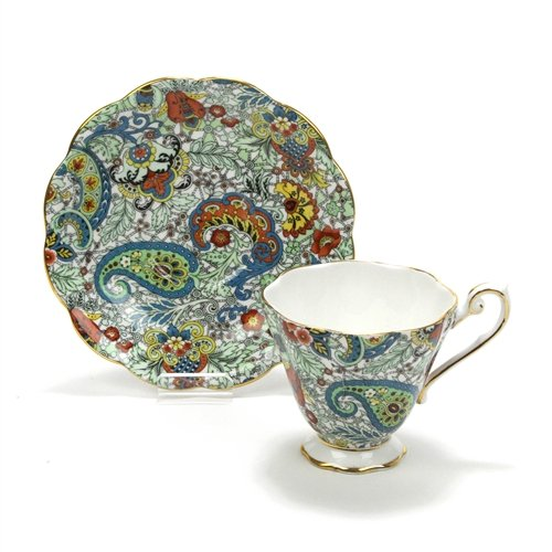 - Cup & Saucer by Royal Standard, China, Paisley