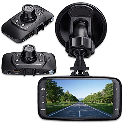 digitsea Novatek 96220 wide-angle 2.7″LCD 1080P HD Car DVR Vehicle Camera Video Recorder camcorder Road Dash Cam GS8000 12V-24V input truck charger/HDMI interface (DVR without storage card)