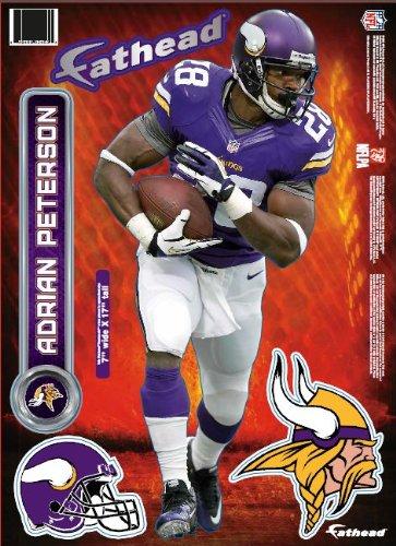 Minnesota Vikings Adrian Peterson Fathead Teammate- (Adrian Peterson Wall Graphic)