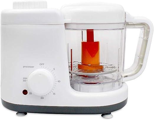 Todeco - Robot Alimentos para Bebés, Procesador de Comida para Bebés - Función: Vaporera y Licuadora 2 en 1 - Material: Libre de BPA - Blanco/Gris: Amazon.es: Hogar