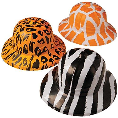 U.S. Toy Animal Print Safari Hats (assorted colors, 1 unit per order)