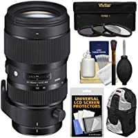 Sigma 50-100mm f/1.8 Art DC HSM Zoom Lens with 3 Filters + Case + Kit for Canon EOS Digital SLR Cameras