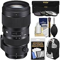 Sigma 50-100mm f/1.8 Art DC HSM Zoom Lens with 3 Filters + Case + Kit for Nikon Digital SLR Cameras