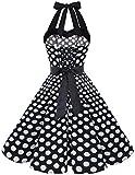 50s 60s Vintage Swing Party Dress Sleeveless Black