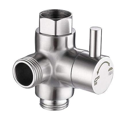 Amazon.com: Válvula desviadora de brazo de ducha de acero ...