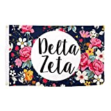 Delta Zeta Floral Pattern Sorority Flag Greek Use as a Banner 3 x 5 Feet Sign Decor dz