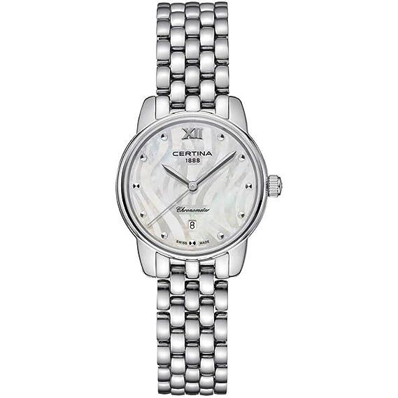 Certina DS-8 Reloj de Mujer Cuarzo 27.5mm Correa de Acero C033.051.11.118.00: Amazon.es: Relojes