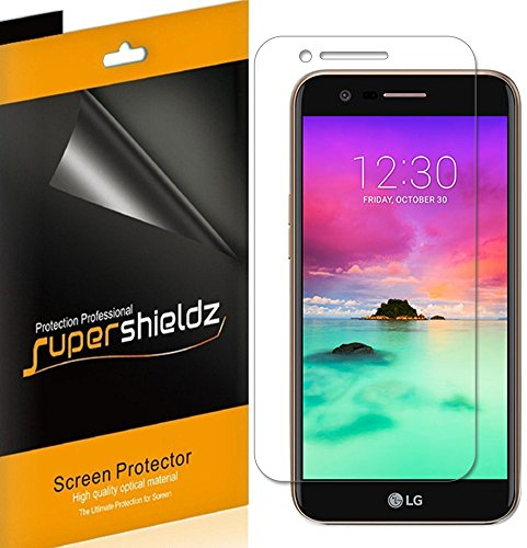 [6-Pack] Supershieldz for LG K20 (AT&T) Screen Protector, Anti-Bubble High Definition Clear Shield + Lifetime Replacements Warranty