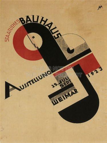【デザイン】ドイツ・バウハウス ヴァイマル校 展覧会用 デザイン アートプリントポスター EXHIBITION BAUHAUS WEIMAR ICON GERMANY 1642PYLV