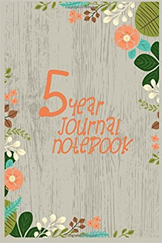 5 Year Journal Notebook: 5 Years Of Memories, Blank Date No Month, 6 x 9, 365 Lined Pages