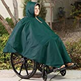 CareActive 9660-0-FOR Wheelchair Rain Poncho-Forest