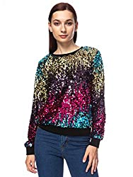 Sequin Crewneck Sweatshirt Long Sleeve