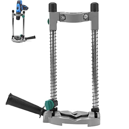 Yadianna Drill Guide 45 Degree Adjustable Angle Strong Durable Drill Holder Guide Stand Positioning Bracket Great Accessory for Precise Hole Drilling at Given Angles
