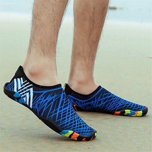 HUSK'SWARE Breathable Schwimmschuhe Badeschuhe Barfuß Wasserschuhe Schnell on Slip Damen Schuhe Trocknend Blau Strandschuhe Herren Aquaschuhe für f0frnBq