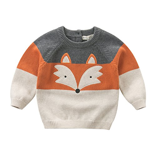 DAVE & BELLA Autumn Newborn Baby Boys 100% Cotton Pullover Tops Infant Clothes Toddler Children Knitted Sweater - 12M-7T