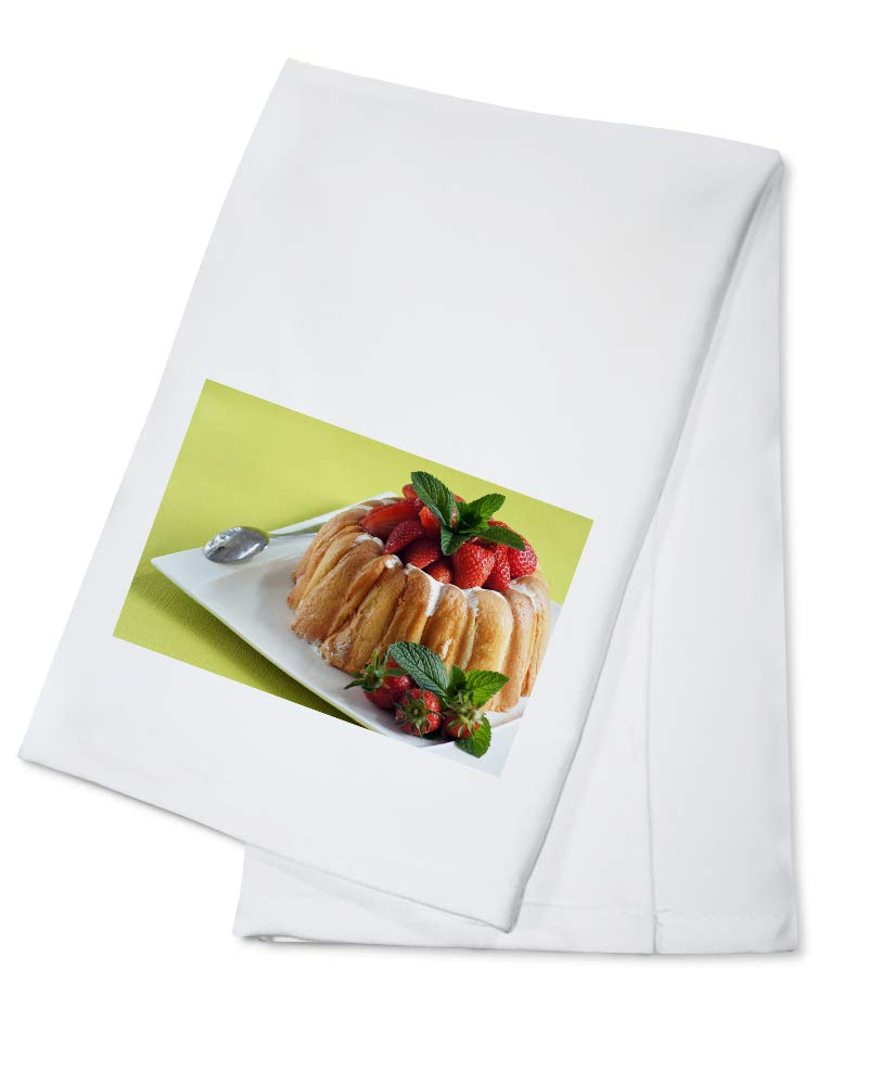 Strawberry Charlotte - Photography A-93910 (100% Cotton Kitchen Towel)